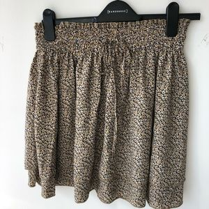 Daisy print mini skirt